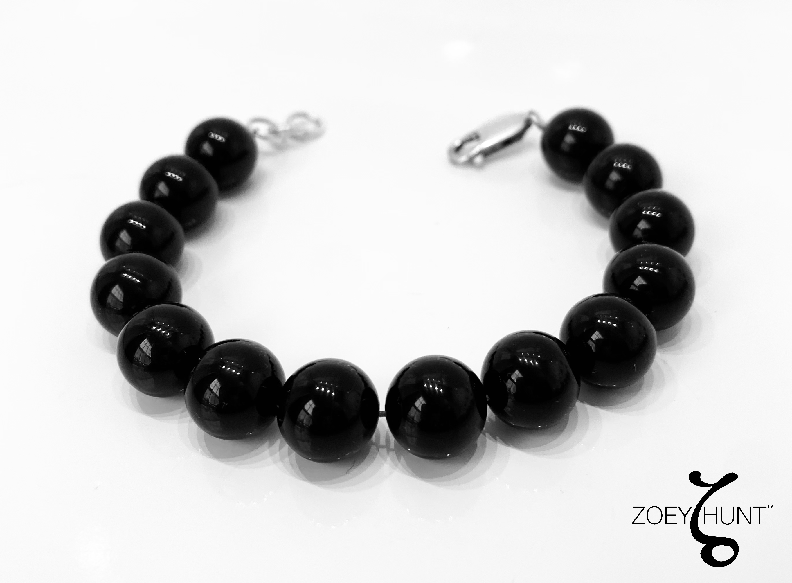 Black Onyx Bracelet - Onyx Meaning - Strength, Intuition, Protection, Self-Confidence & Balance