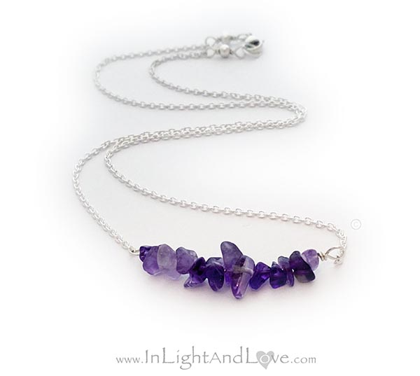 Amethyst Necklace and Amethyst Bracelet