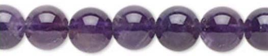 8mm Amethyst Round Beads Meaning - Love - Centering - Protection - Spiritual - Focus - Chakras - Throat and Heart