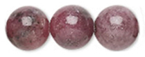 4mm Rhodonite is said to stimulate fertility and help heal emotional and physical wounds.