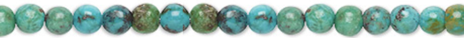 4mm Turquoise is said to provide protection and is a grounding stone and known to aid in fertility.