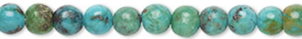 6mm Turquoise is said to provide protection and is a grounding stone and known to aid in fertility.