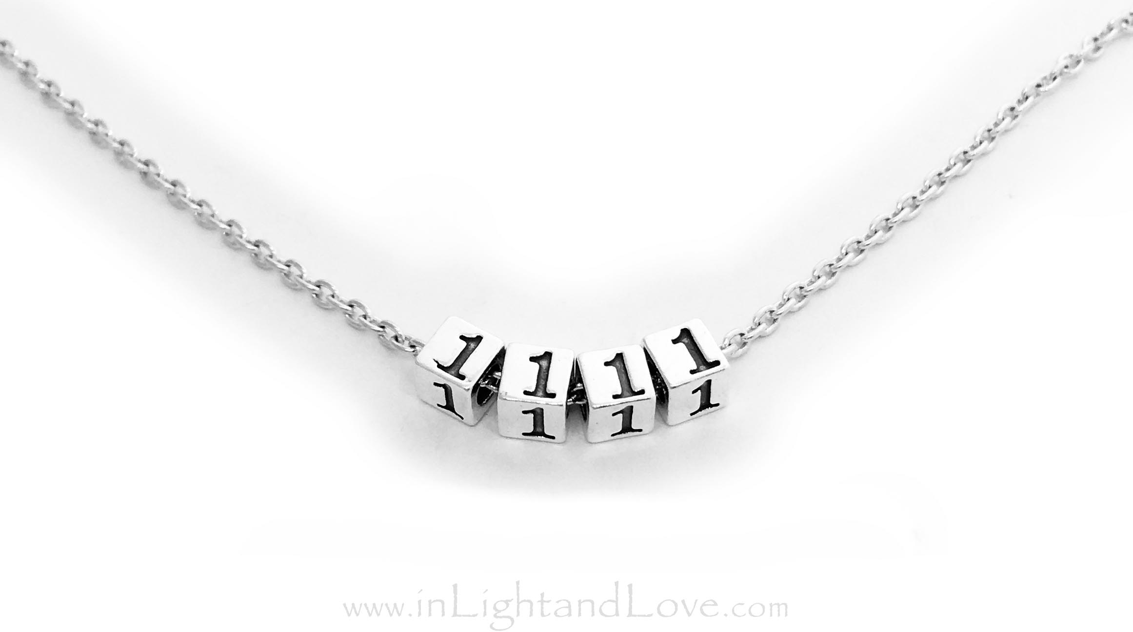 1111 Meaning or 11:11 Necklace