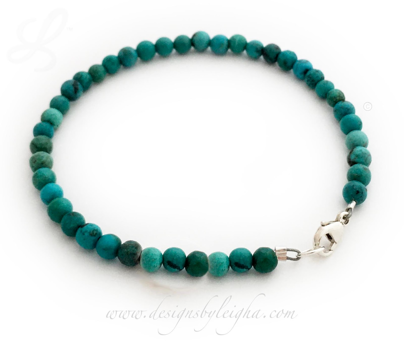 LLL-B-Vib-Turquoise-4mm 4mm Turquoise Bracelet Healing - Protective - Spiritual - Communication - Intuition